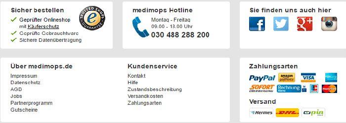 Service bei Medimops