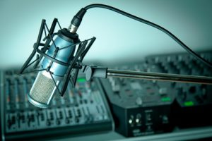 Aufnahme in Tonstudio